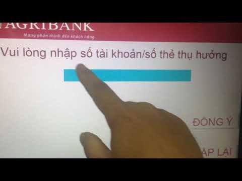 Agribank: lần đầu dùng thẻ agribank như thế nào, đổi pin, rút tiền, chuyển tiền.