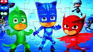 Герои в Масках ДРУЗЬЯ навеки - собираем пазлы для детей с героями мультика PJ Masks