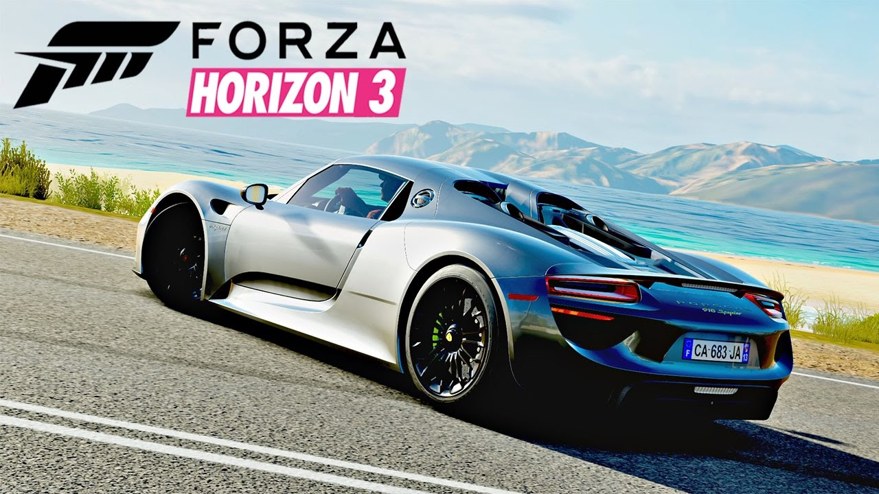 forza horizon 3 porsche 918 spyder gameplay 1080p youtube. Black Bedroom Furniture Sets. Home Design Ideas