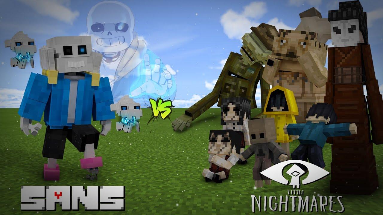SANS vs LITTLE NIGHTMARES! || MINECRAFT!