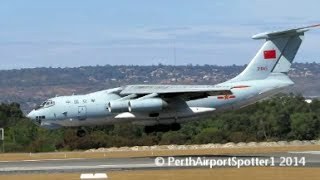 Chinese Military Ilyushin IL-76MD/TD 21045 - Landing on RWY 03 - Perth Airport PER/YPPH