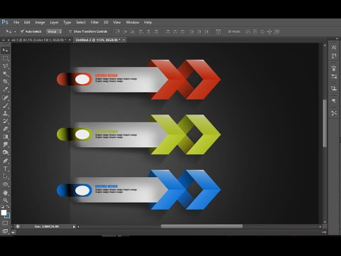 TUTORIAL photoshop CS6  make graphic design modern