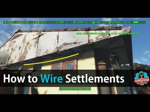 Fallout 4 | How to wire your settlements (Power Glitch)