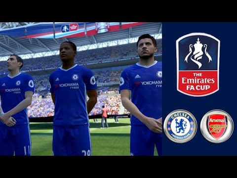Chelsea FC vs Arsenal FC ● 2017 Emirates FA Cup Final | FIFA 17 The Journey