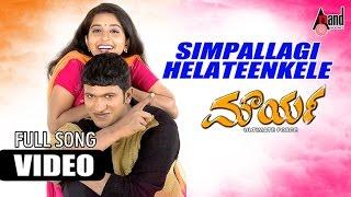 Maurya Kannada Movie   Simpallagi Helateen Kele   Puneeth Rajkumar, Meera Jasmine