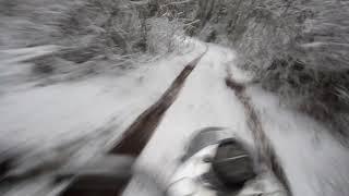 На лысой резине зимой в лес. Урал-мотоблок,.