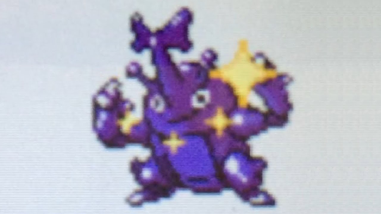 Live Shiny Heracross After 15 428 Hbs On Gold Virtual Console Dtq 3