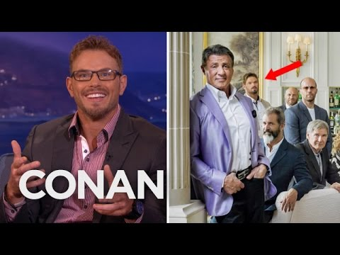 Kellan Lutz Sorta-Photobombed Sylvester Stallone  - CONAN on TBS