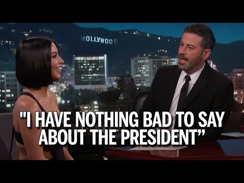 Kim Kardashian Refuses To Speak Badly About Trump, Despite Kimmel Trying His Best! (REACTION)