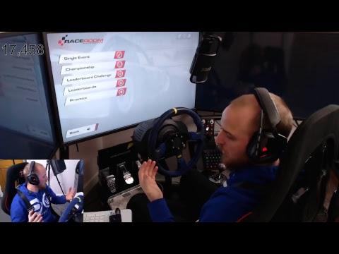 raceroom live stream wheel cam+triple screen E3