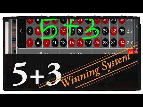 5 + 3 Winning System (Roulette Win Tricks)