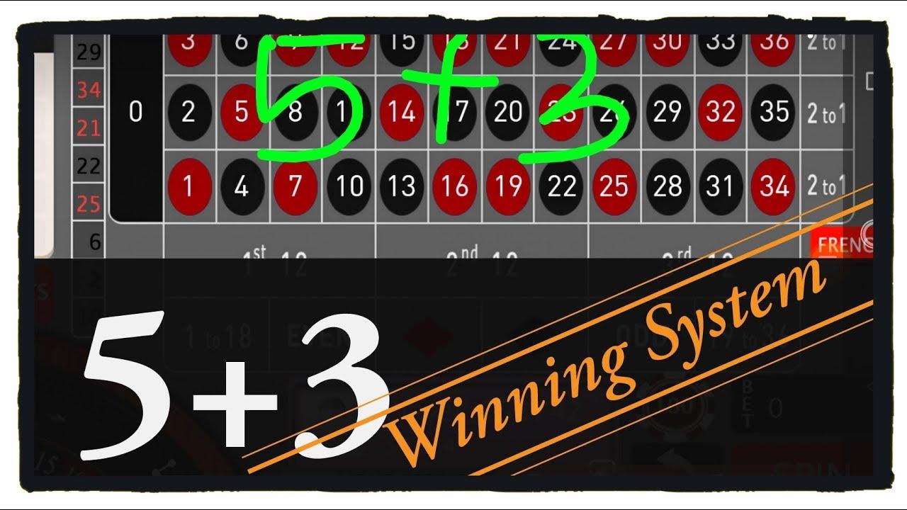 5 + 3 Winning System (Roulette win Tricks) - YouTube