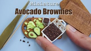 Polymer Clay Avocado Brownies // Miniature Food Tutorial with Fimo