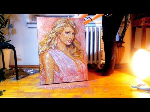 GLITTER ART of Paris Hilton | Time Lapse by TRILLI