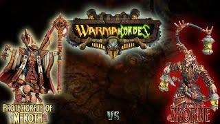 Warmachine & Hordes - Protectorate of Menoth (Severius) vs. Skorne (Mordikaar) - 50pt Battle Report