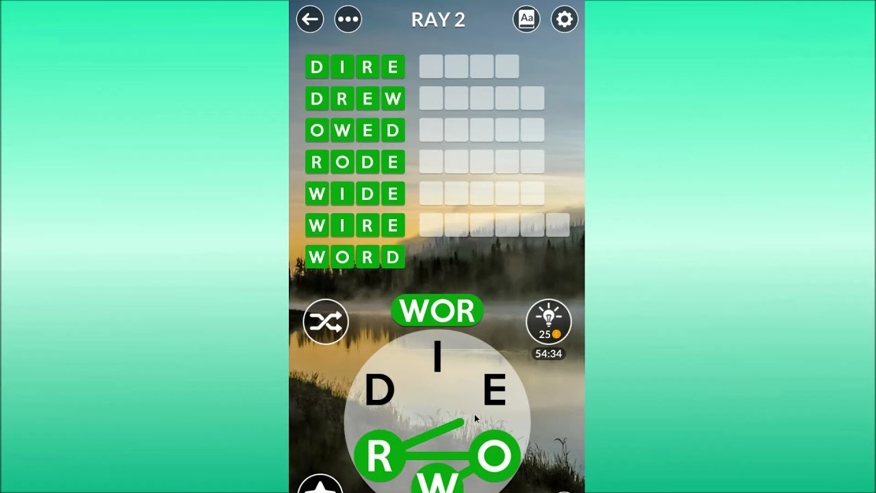 Wordscapes Uncrossed Ray 2 Youtube