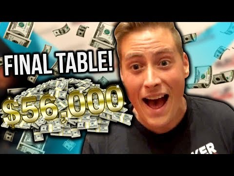 $56,000 FOR 1ST PLACE - LIVE POKER FINAL TABLE!!!