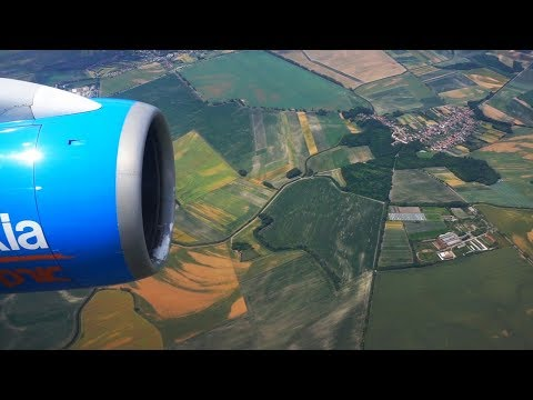 Bratislava area flight view - beautiful patterns of towns, villages, fields