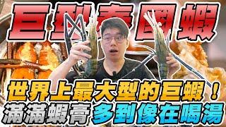 世界上最大的蝦子''爆膏巨型泰國蝦''!滴不完的蝦膏多到以為在喝湯?三種做法究竟哪一種最好吃?蒜蓉+清蒸+鹽烤【有錢人的世界 EP 02】