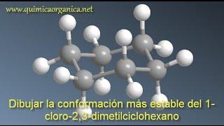 Conformación más estable del ciclohexano