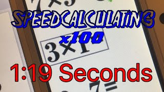 PRACTICE: 1:19 SECONDS (Calculations x100) - Brain Age Express: Math