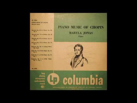 Piano Music of Chopin - Maryla Jonas (Vinyl - Side 1)
