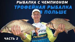 Рыбалка с чемпионом! Ловля трофейного леща в Кракове! Часть 2!