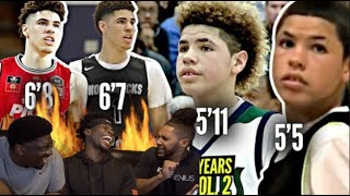 Lamelo The NEW Steph Curry?? | Lamelo Australian Highlights Reactions