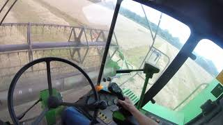 Harvest 17: Combining Spring Barley Deutz Fahr 36.10- First Person
