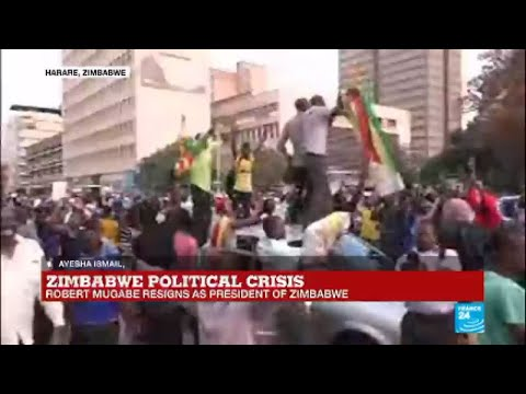 Zimbabwe: Joy in the streets of the country after Mugabe announces resignation as president