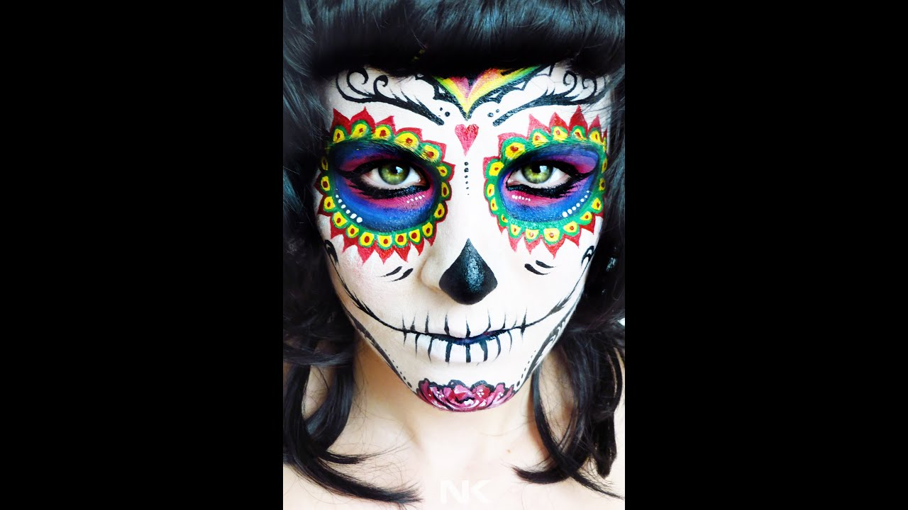 sugar skull face paint tutorial day of the dead nk youtube - Halloween Day Of The Dead Face Paint