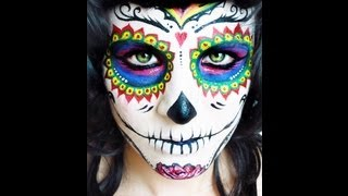 Sugar Skull Face paint tutorial. Day of the Dead. NK