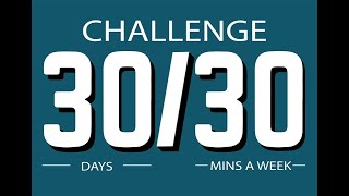 Some ideas for families doing the 30/30 Challenge...