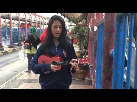Pengamen Cantik Nyanyi Agak Sedikit Fals-cover Jaga Selalu Hatiku(seventeen)