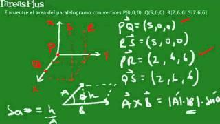 Área de un paralelogramo dados cuatro puntos en R3