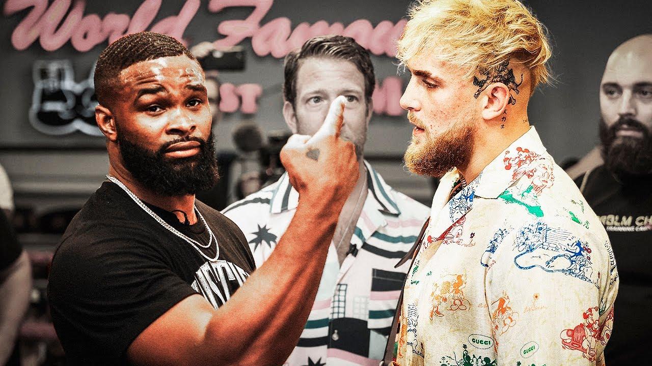 Дерзкий блогер против чемпиона UFC / Пресс-конференция Джейк Пол - Тайрон Вудли перед боем