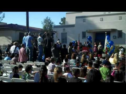 George Lopez San Fernando Elementary School Auditorium Dedication