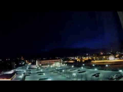 Night in Reykjavik - time lapse