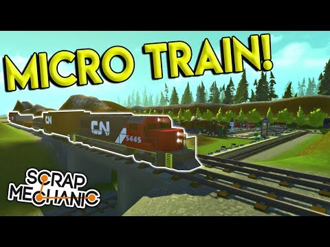 MICRO TRAINS & MICRO CITY WORLD! – Scrap Mechanic Creations Gameplay – Town & Train Builds