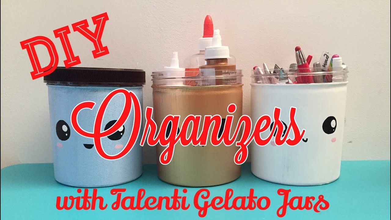 DIY Organizers with Talenti Gelato Cans DIY