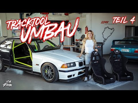 BMW E36 328i TrackTool Umbau TEIL 4 | Einbau OMP Sitze & Animalracing Sitzkonsolen | Lisa Yasmin