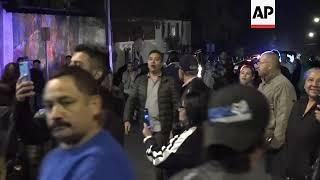 Group protests Central American caravan in Tijuana