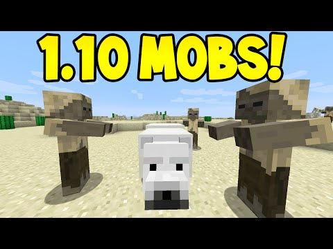 Minecraft 1.10 - NEW MOBS! + BLOCKS (Husk, Polar Bear, Stray)