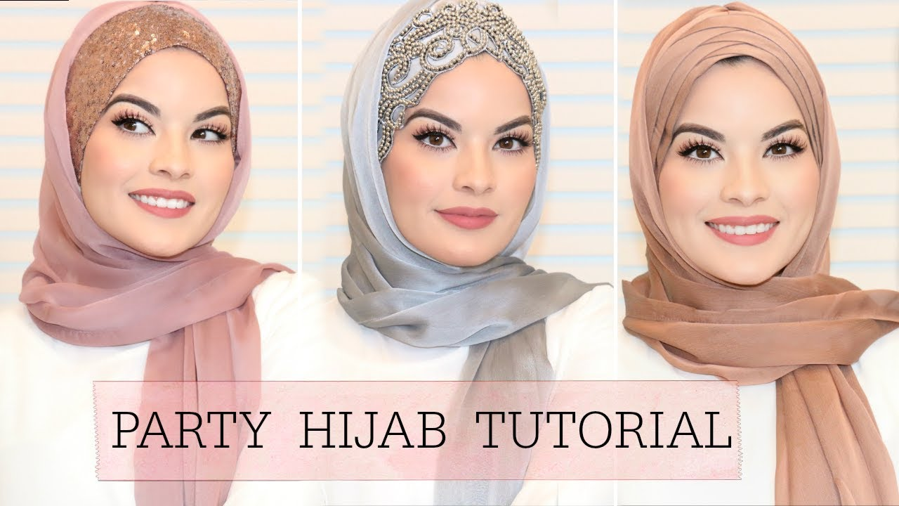 3 EASY HIJAB STYLES FOR PARTY/ WEDDING   Omaya Zein 3