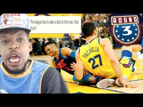 ZAZA NEEDS TO BE SUSPENDED ASAP!!! WARRIORS vs THUNDER HIGHLIGHTS REACTION