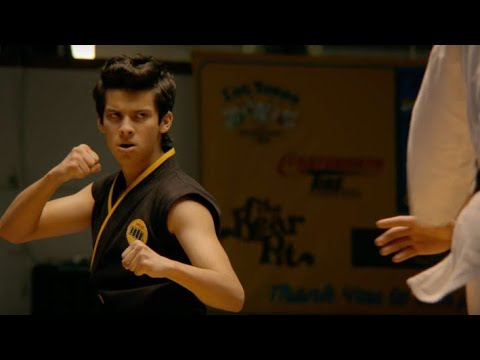 "Cobra kai tournament scene with ""You're the best around"""