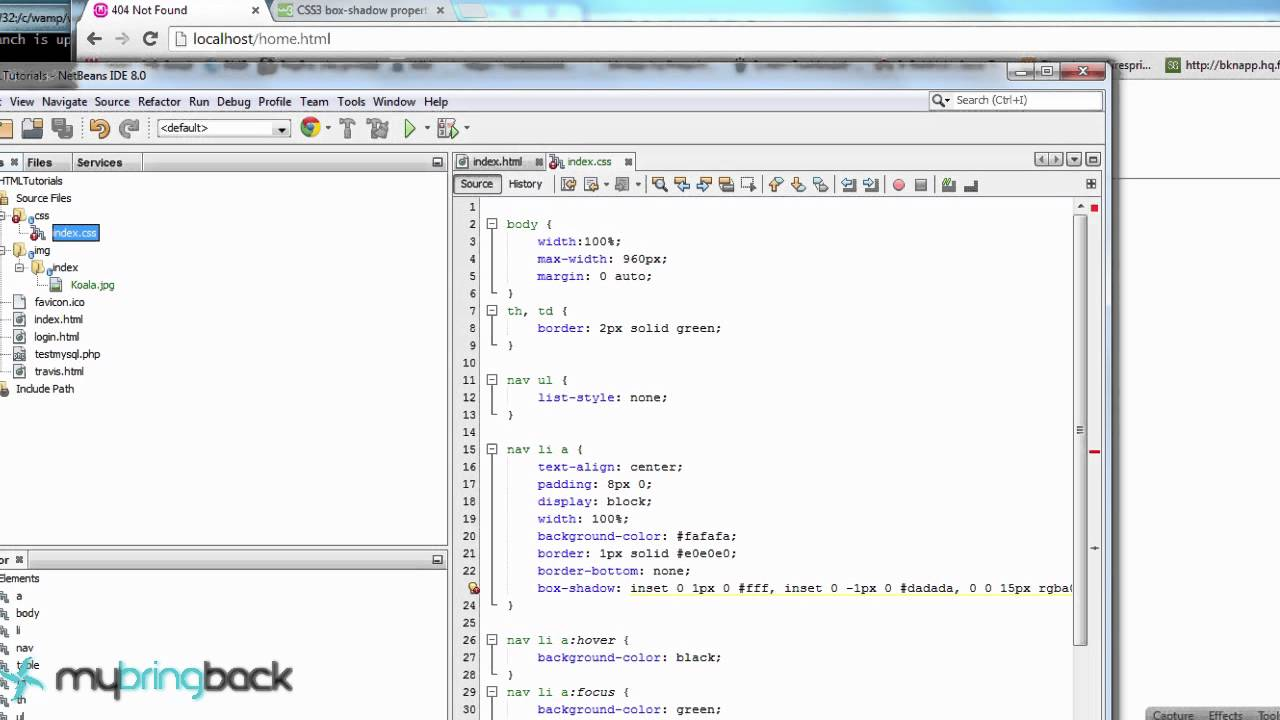 Usando o background image no css - Html And Css Tutorial 10 Link Hover Focus Visited And Active Selectors
