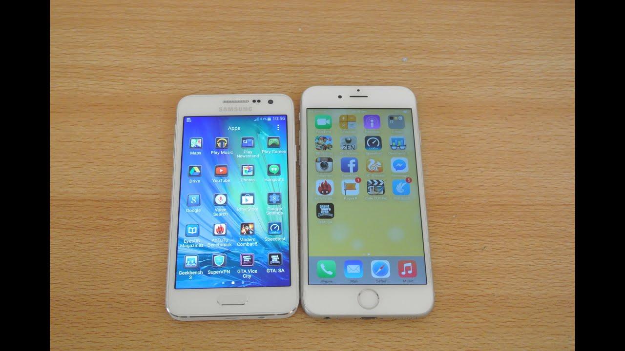 samsung galaxy a3 vs iphone 6