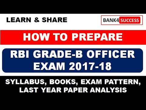 How To Prepare for RBI GRADE-B Phase -I Exam -  Strategy and Important Topics