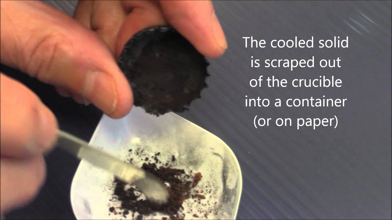 Carbon reduction of Copper Oxide
